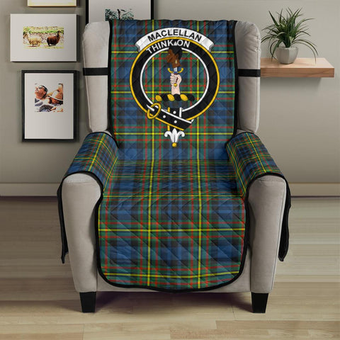 MacLellan Ancient Tartan Clan Badge Sofa Protector