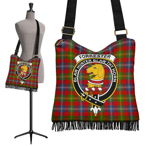 Forrester Tartan Clan Badge Boho Handbag | scottishclans.co