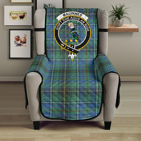 Image of MacInnes Ancient Tartan Clan Badge Sofa Protector
