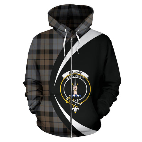 MacKay Weathered Tartan Circle Zip Hoodie