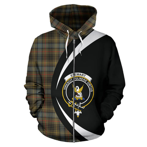 Stewart Hunting Weathered Tartan Circle Zip Hoodie
