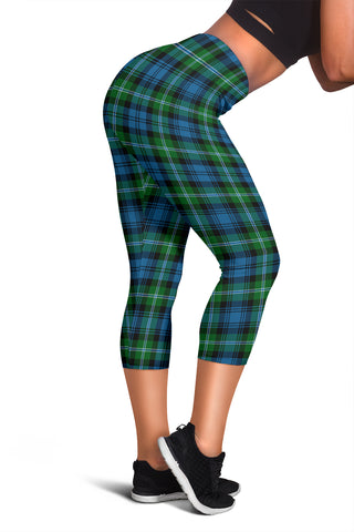 Lyon Clan Tartan Capris Leggings | Scottishclans.co