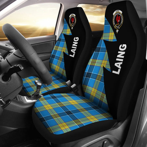 Laing Clans Tartan Car Seat Covers - Flash Style