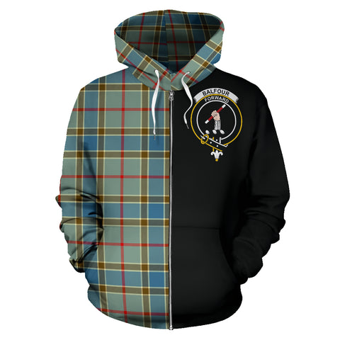 Image of Balfour Blue Tartan Hoodie Half Of Me
