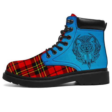 Brodie Modern Tartan All-Season Boots - Celtic Thistle | scottishclans.co