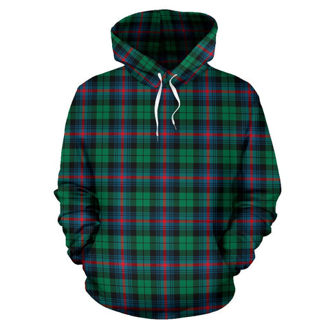 Urquhart Broad Red Ancient Tartan Hoodie, Scottish Urquhart Broad Red Ancient Plaid Pullover Hoodie