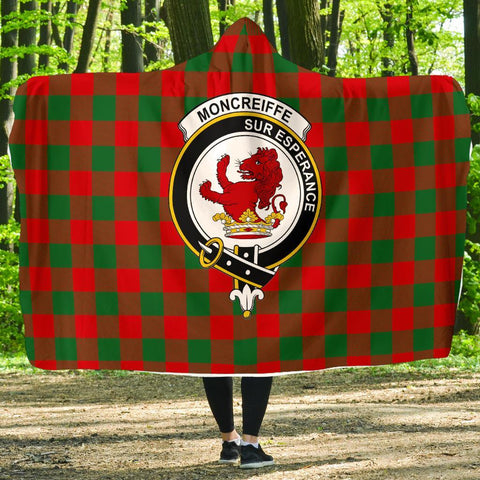 Image of Moncrieffe Clans Tartan Hooded Blanket