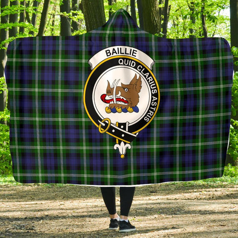 Baillie Clans Tartan Hooded Blanket