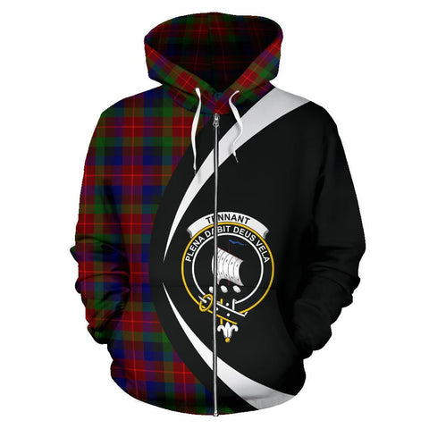 Image of Tennant Tartan Circle Zip Hoodie
