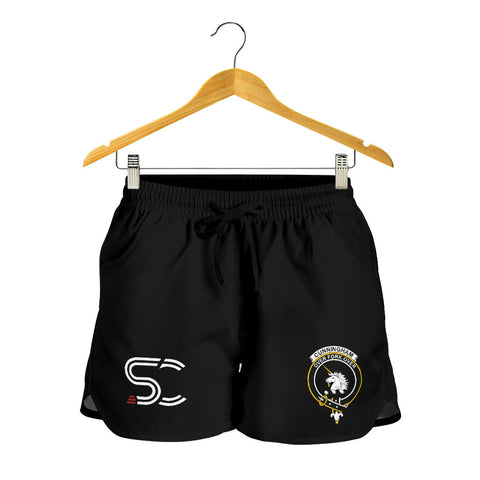 Cunningham Burgundy Dancers Clan Badge Women's Shorts
