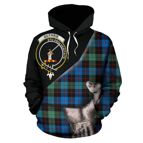 Image of Guthrie Ancient Tartan Clan Crest Hoodie Patronage HJ4