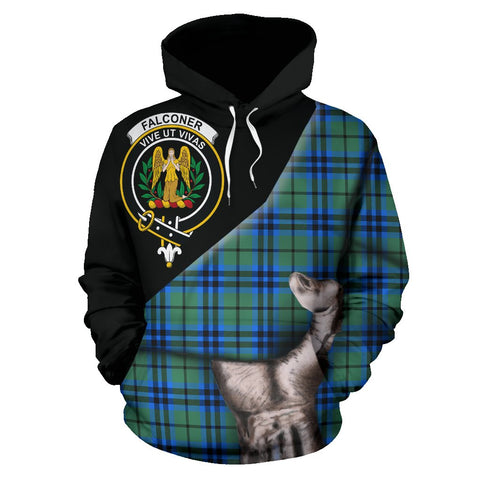 Image of Falconer Tartan Clan Crest Hoodie Patronage HJ4