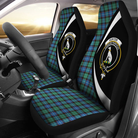 Hunter Ancient Tartan Clan Crest Car Seat Cover