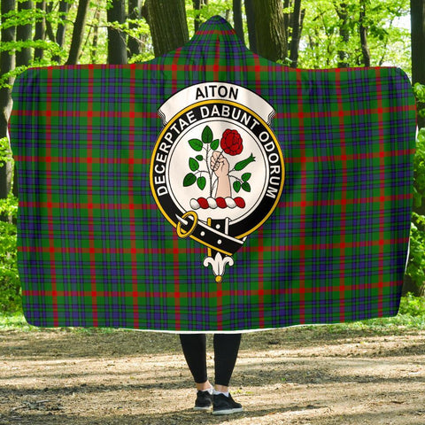 Image of Aiton Clans Tartan Hooded Blanket