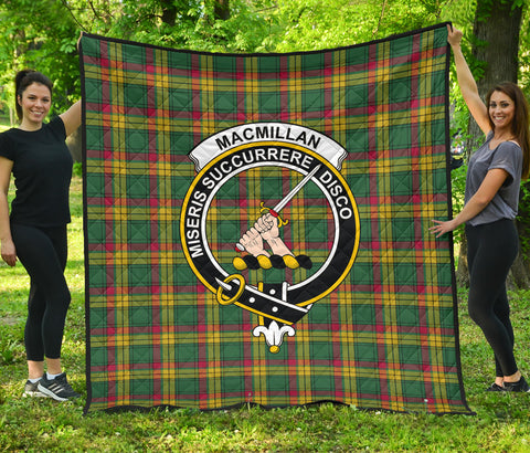 Image of MacMillan Old Ancient Tartan Clan Badge Premium Quilt | Scottishclans.co