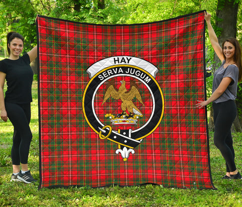 Hay Modern Tartan Clan Badge Premium Quilt | Scottishclans.co