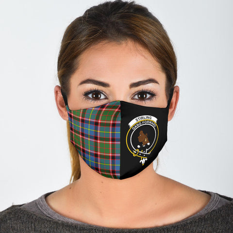 Stirling & Bannockburn District  Tartan Mouth Mask The Half