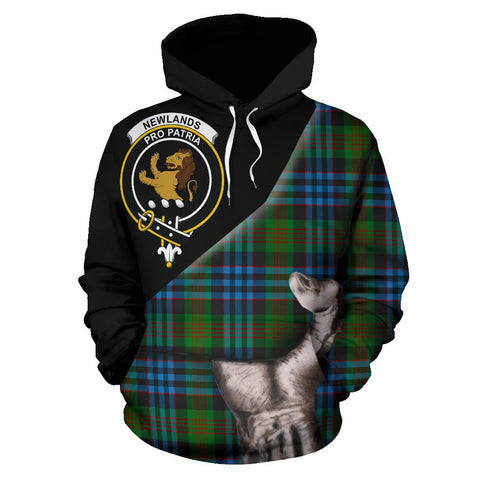 Image of Newlands of Lauriston Tartan Clan Crest Hoodie Patronage HJ4