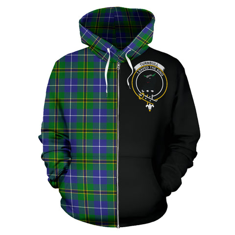 Turnbull Hunting Tartan Hoodie Half Of Me