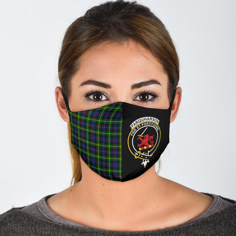 Image of Farquharson Modern  Tartan Mouth Mask The Half
