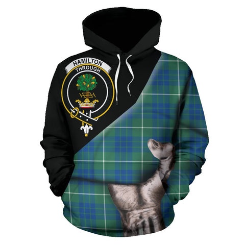 Image of Hamilton Hunting Ancient Tartan Clan Crest Hoodie Patronage HJ4