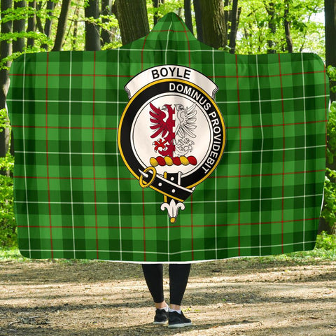 Image of Boyle Clans Tartan Hooded Blanket