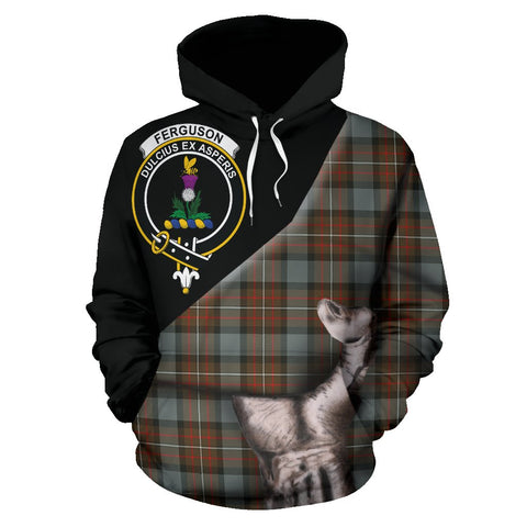 Fergusson Weathered Tartan Clan Crest Hoodie Patronage HJ4