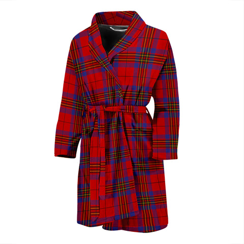 Image of Leslie Modern Tartan Mens Bathrobe