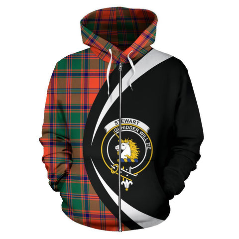 Stewart of Appin Ancient Tartan Circle Zip Hoodie