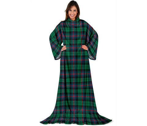 Urquhart Broad Red Ancient Tartan Clans Sleeve Blanket | scottishclans.co