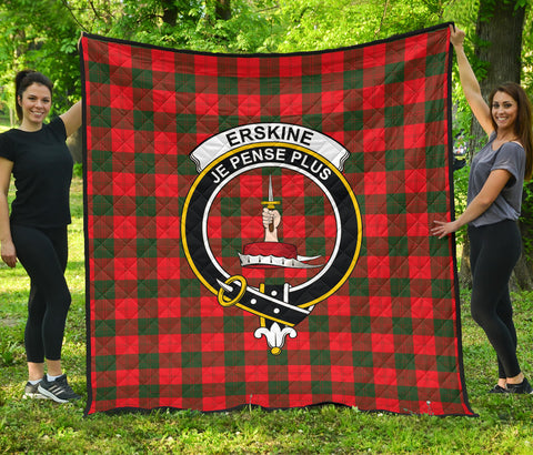 Erskine Modern Tartan Clan Badge Premium Quilt | Scottishclans.co