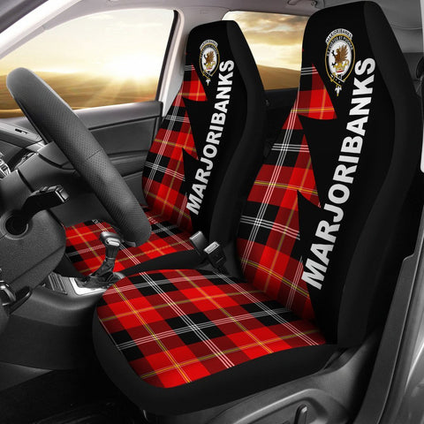 Image of Marjoribanks Clans Tartan Car Seat Covers - Flash Style
