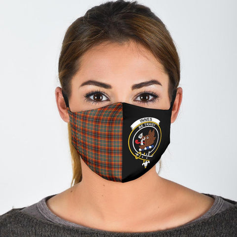 Innes Ancient  Tartan Mouth Mask The Half