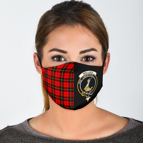 Wallace Hunting - Red  Tartan Mouth Mask The Half