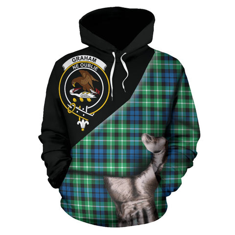 Graham of Montrose Ancient Tartan Clan Crest Hoodie Patronage HJ4