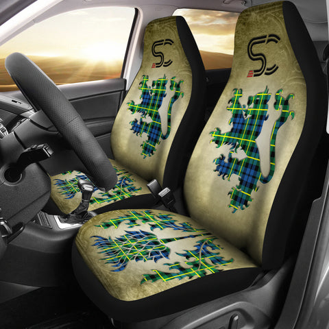 Campbell of Breadalbane Ancient Tartan Car Seat Cover Lion and Thistle Special Style