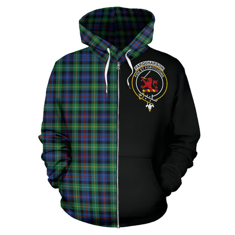 Image of Farquharson Ancient Tartan Hoodie Half Of Me