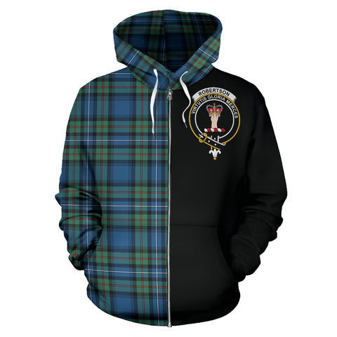 Robertson Hunting Ancient Tartan Hoodie Half Of Me