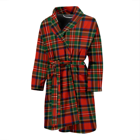 Stewart Royal Modern Tartan Mens Bathrobe