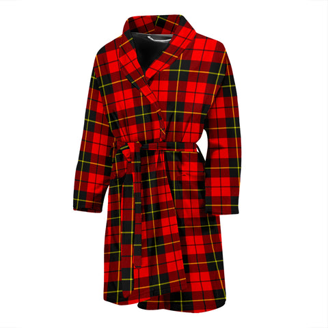Wallace Hunting - Red Tartan Mens Bathrobe