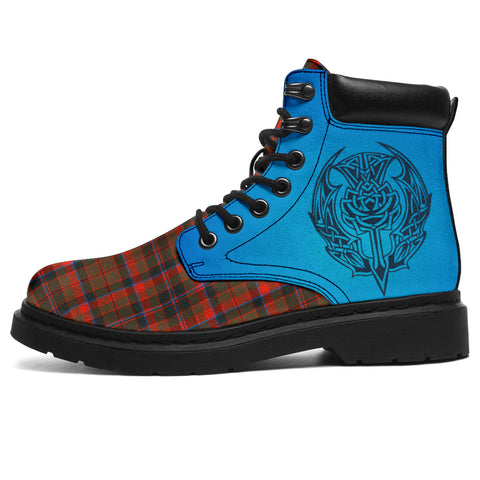 Cumming Hunting Weathered Tartan All-Season Boots - Celtic Thistle | scottishclans.co