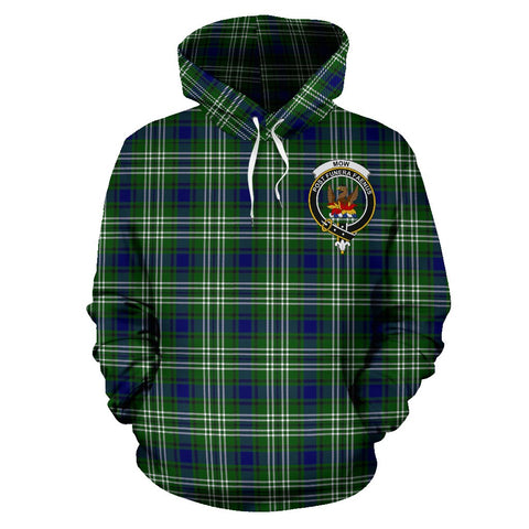 Image of Mow Tartan Clan Badge Hoodie HJ4