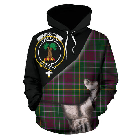 Image of Crosbie Tartan Clan Crest Hoodie Patronage HJ4