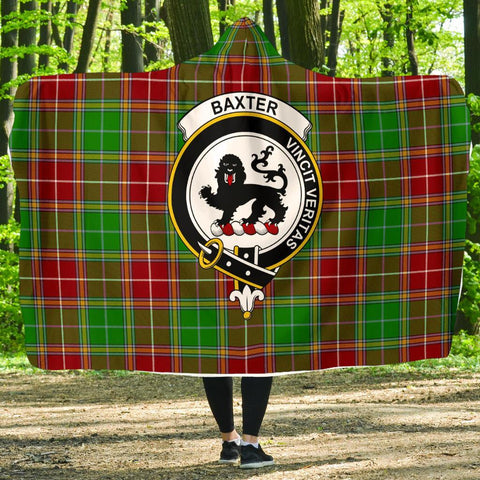 Image of Baxter Clans Tartan Hooded Blanket