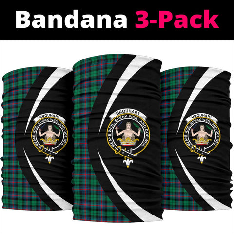 Urquhart Broad Red Ancient Tartan Bandana Circle