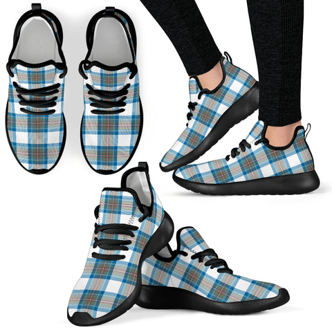 Tartan Mesh Knit Sneakers - Stewart Muted Blue