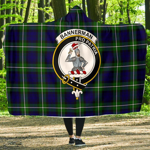 Bannerman Clans Tartan Hooded Blanket