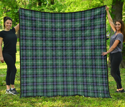 Image of MacDonald of the Isles Hunting Ancient Tartan Premium Quilt | Scottishclans.co