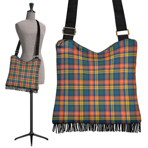 Buchanan Ancient Tartan Boho Handbag | scottishclans.co