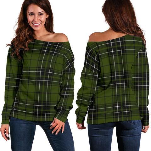Tartan Womens Off Shoulder Sweater - MacLean Hunting